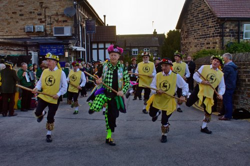 Harthill Morris dancing at Wortley Men's Club