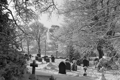 St Leonards Graveyard in Winter